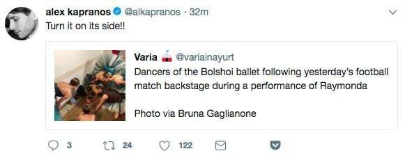 Балерины смотрят матч Испания-Россия: новый интернет-мем