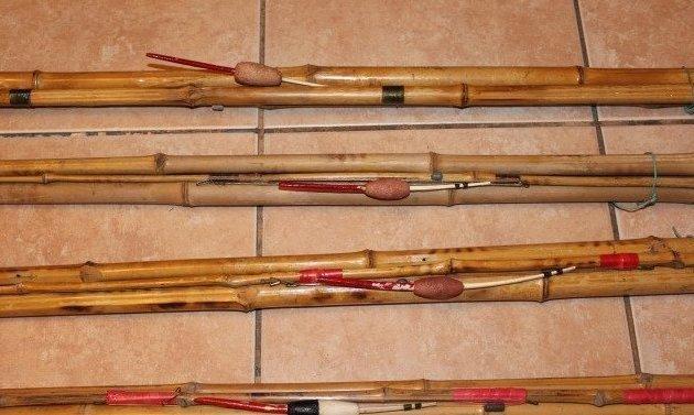 5. Бамбуковые удочки - легкие и прочные