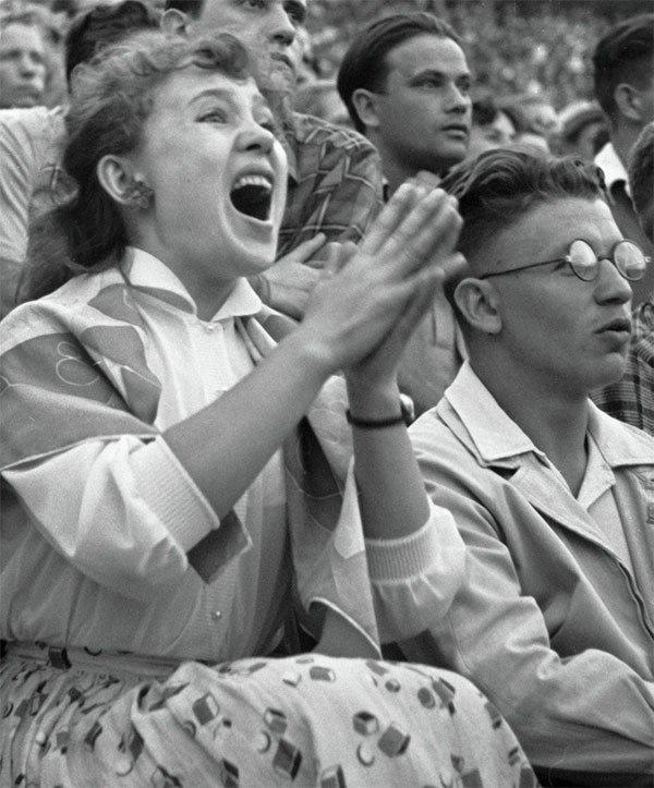 """Надежда Румянцева тоже """"болела"""", 1958 год."""