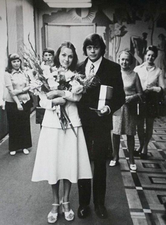 Николай Караченцов и Людмила Поргина, свадьба, 1975 год