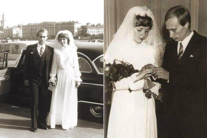 Его соратник, а ныне президент РФ Владимир Путин и Людмила Шкребнева, 1983 год