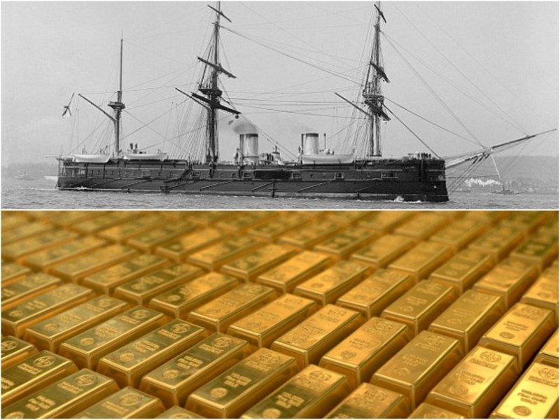 На дне океана найден русский корабль-призрак с 200 тоннами золота на борту