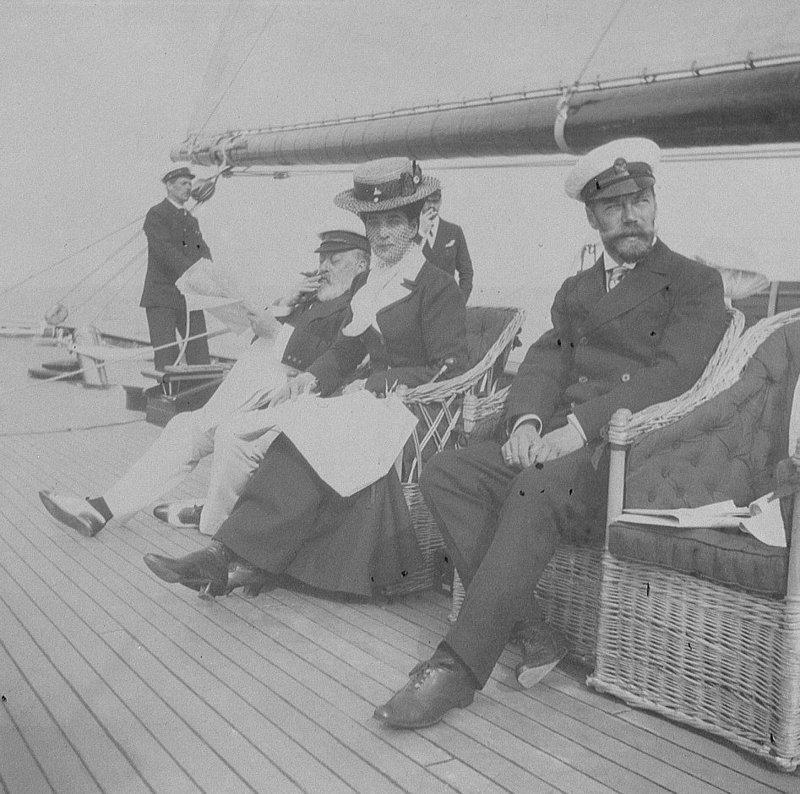 Николай II посещает регату в Великобритании. Август 1909 года