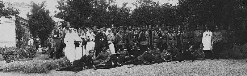 Царь посещает госпиталь фронтовиков, 1915 год