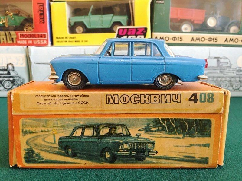 А эти модельки отечественных авто, у которых открывались капот и дверцы!