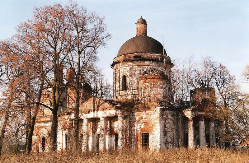 Владимирская область, Кольчугинский район, село Новофетинино,  Церковь Всех Святых,1844 г