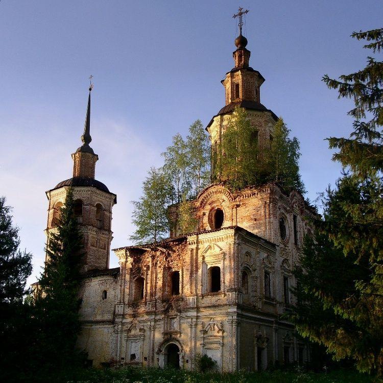 Кировская область, Лузский район, Буркинский погост, Церковь Покров-на-Лузе,1729-1751 гг.