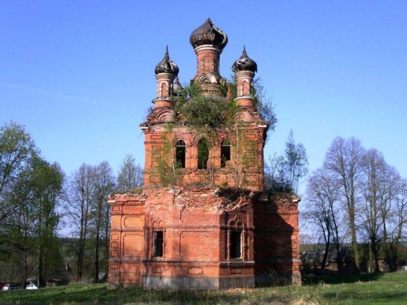 Церковь Николая Чудотворца в Поречье Калужской области. Год строительства - 1907