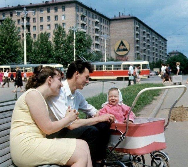 На улицах Москвы в 1969 году