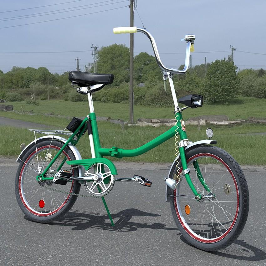 "Велосипед ""Аист"" легко складывался"