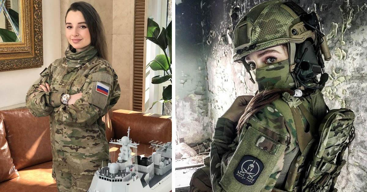 Рту брюнетка в военной форме порно