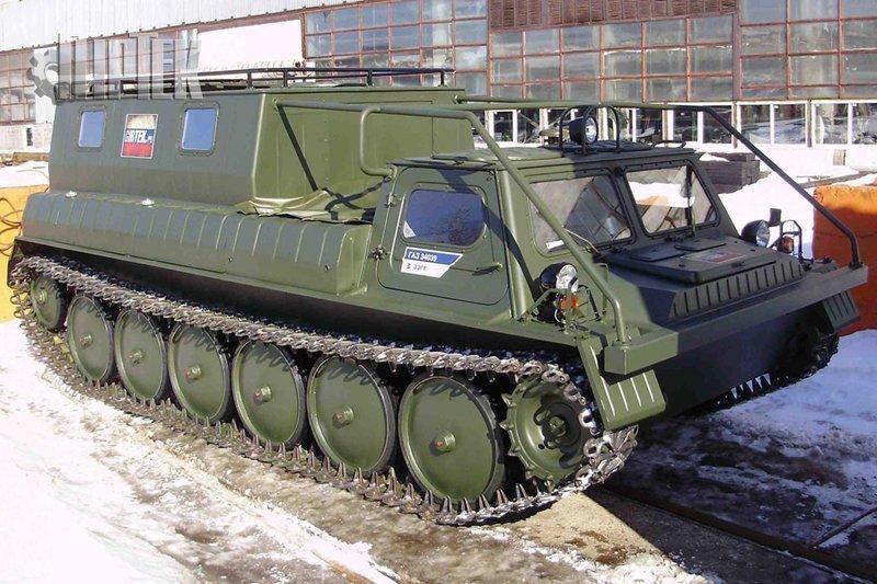 ГАЗ-34039 - советский снегоболотоход на гусеницах