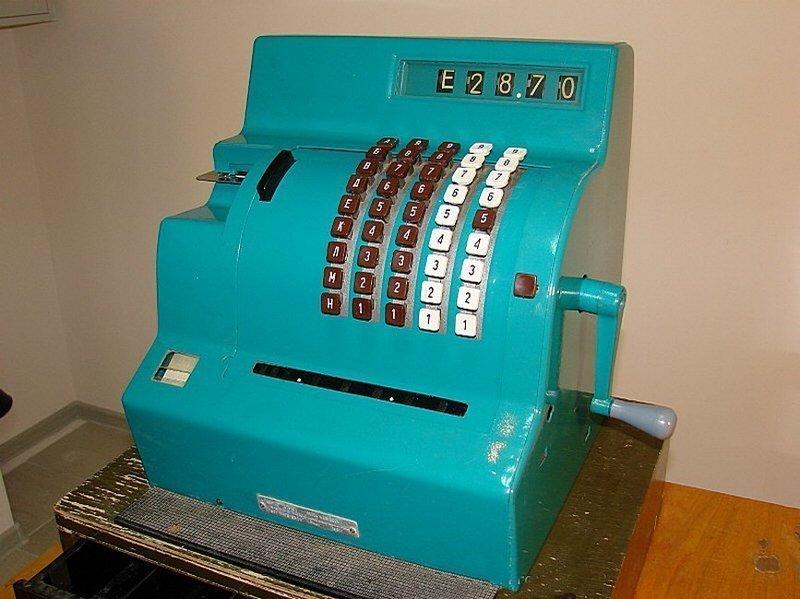 Кассовый аппарат образца 1969 года можно было встретить во многих магазинах