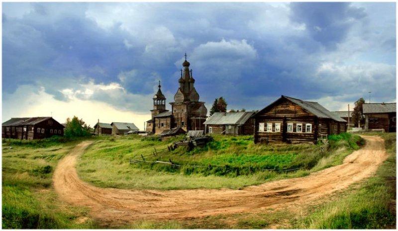 Населенный пункт Кимжа на севере Архангельской области