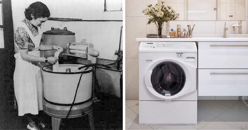Раньше стиральная машинка требовала активного участия, теперь она все делает сама. Настоящее женское счастье!