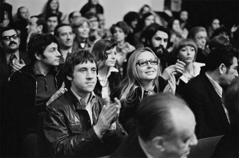 Владимир Высоцкий и Марина Влади на концерте, 1977 год