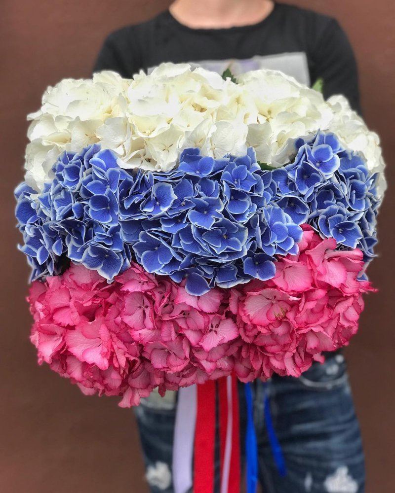 Собери цвета флага - всегда популярный флешмоб от россиян