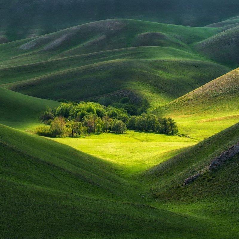 Южный Урал в Оренбургской области, наиболее широкая горная система Уральских гор