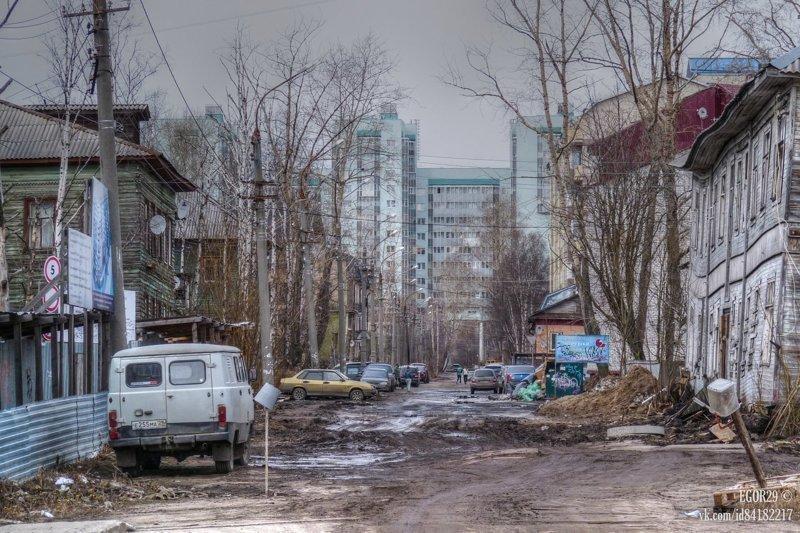 Такие дороги Архангельска - родная стихия УАЗа