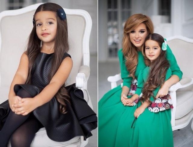 Ксения Бородина с дочькой