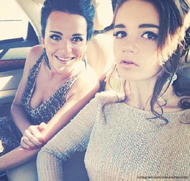 Певица Слава с дочкой