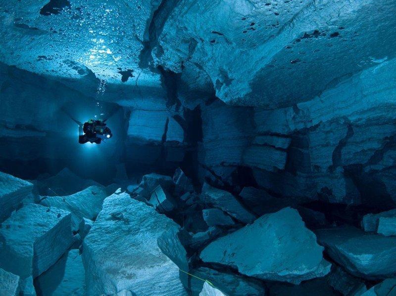 Ординская пещера для занятий дайвингом, Пермский край