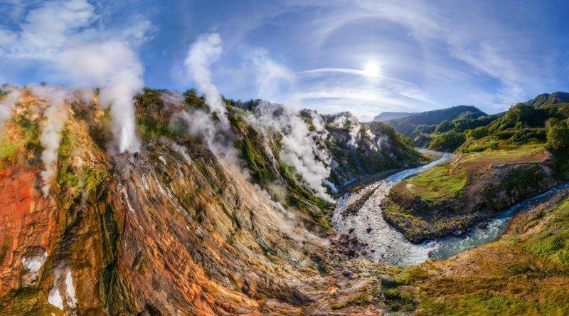 Горячая долина Гейзеров на Камчатке