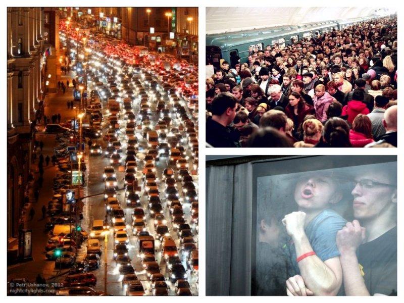 Экстремальная близость: 20 шокирующих фотографий транспортного коллапса в России