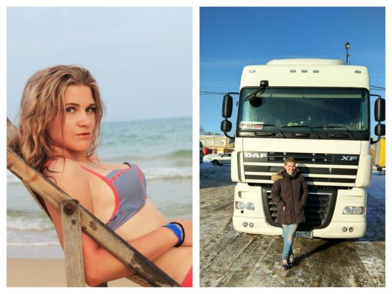На смену Водяновой: Красавица из Нижнего работает дальнобойщиком