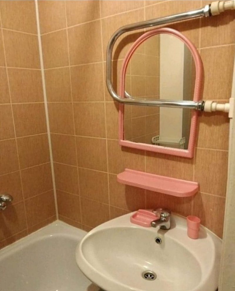 Ванная комната эгоиста - собственный лик всегда согреет