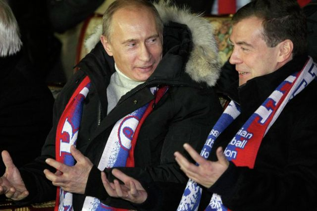 """Вместе в """"Лужниках"""", 2010 год дружба, медведев, путин, тандем"""