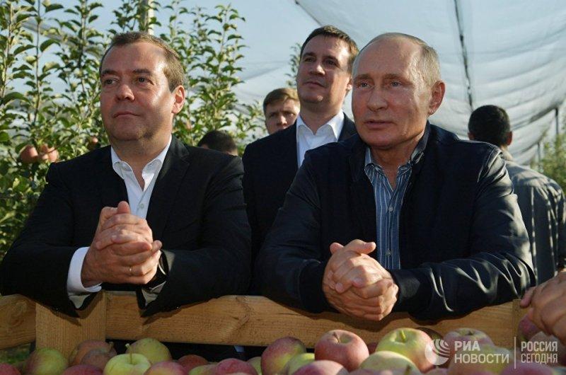 Куда Путин и Медведев ходят парой? дружба, медведев, путин, тандем