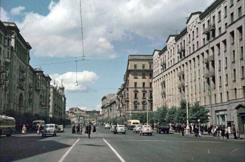 Москва 1952 года - рай для пешеходов