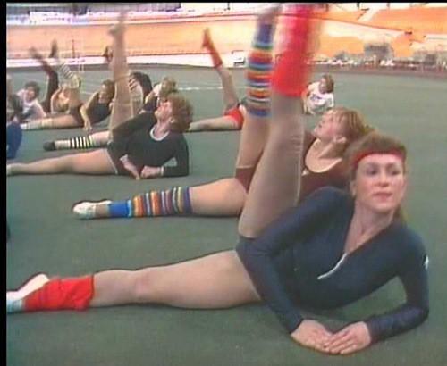 ЗОЖ по-советски  аэробика, гетры, гимнастика, мода, передача, спорт