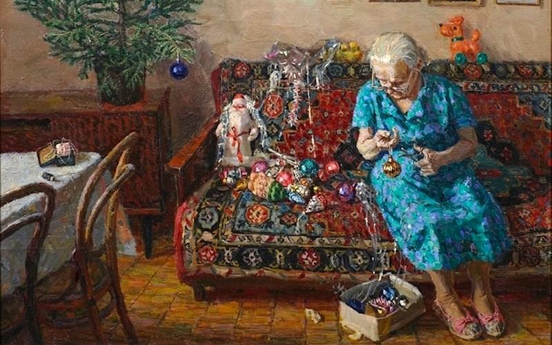Егор Зайцев. Рождественская елка, 1996 год елочные игрушки, новый год, ностальгия, ссср, стеклянные шары