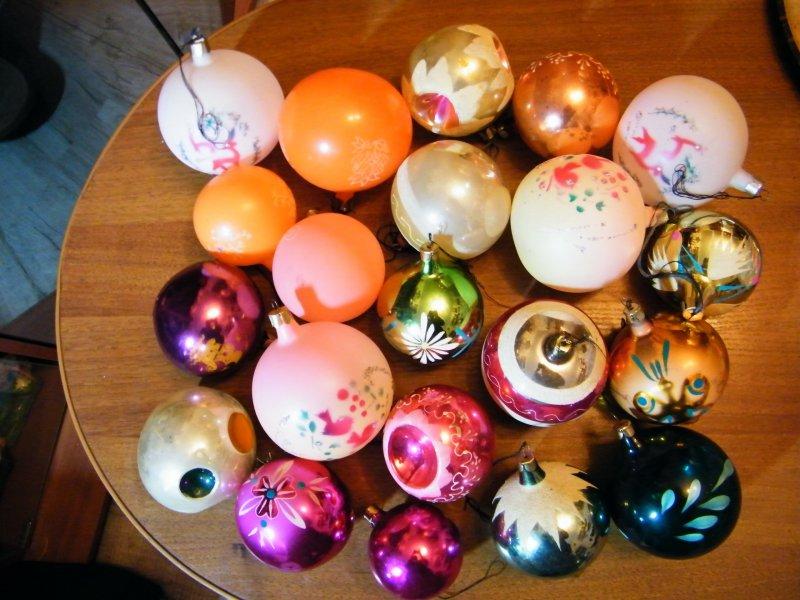 А елочные шары выглядели так! елочные игрушки, новый год, ностальгия, ссср, стеклянные шары
