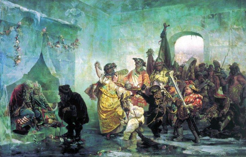 Как русские цари тратили казённые деньги на соколиную охоту и ледяные дворцы