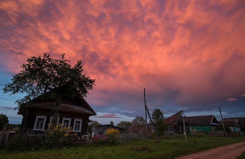 Провожаем день деревня, детство, жизнь, ностальгия, период, русская деревня