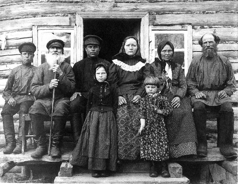 Крестьянская семья, конец 19-го века