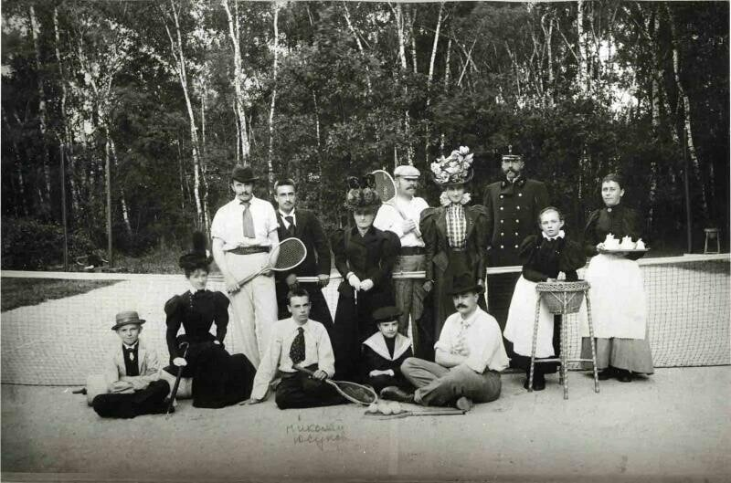 Игроки в теннис, конец 19-го века