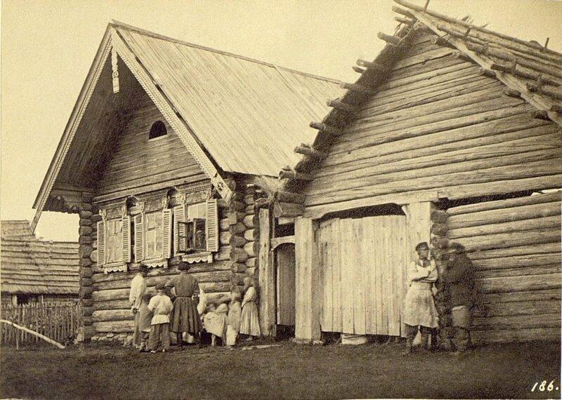 Деревенская изба в Колпине, 1860-е годы