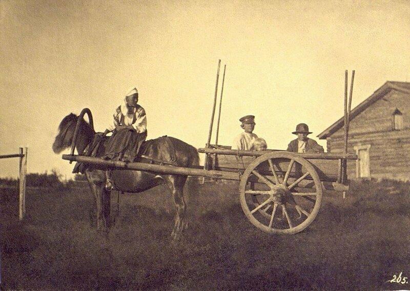 Крестьяне в двуколке, 1860-е годы