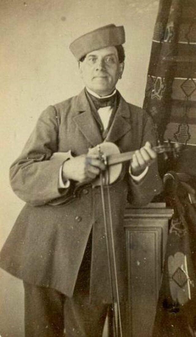 Портрет мужчины со скрипкой, 1850 — 1869 годы
