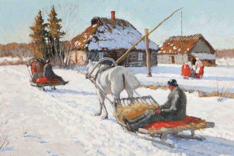 Что делали зимой русские крестьяне? зима, история, коляда, прялка, русский быт, русы