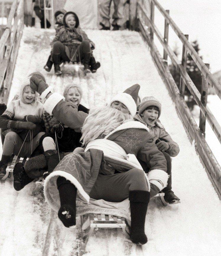 Жизнерадостным дед мороз, новый год, ссср, фото