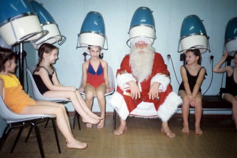 Модным дед мороз, новый год, ссср, фото