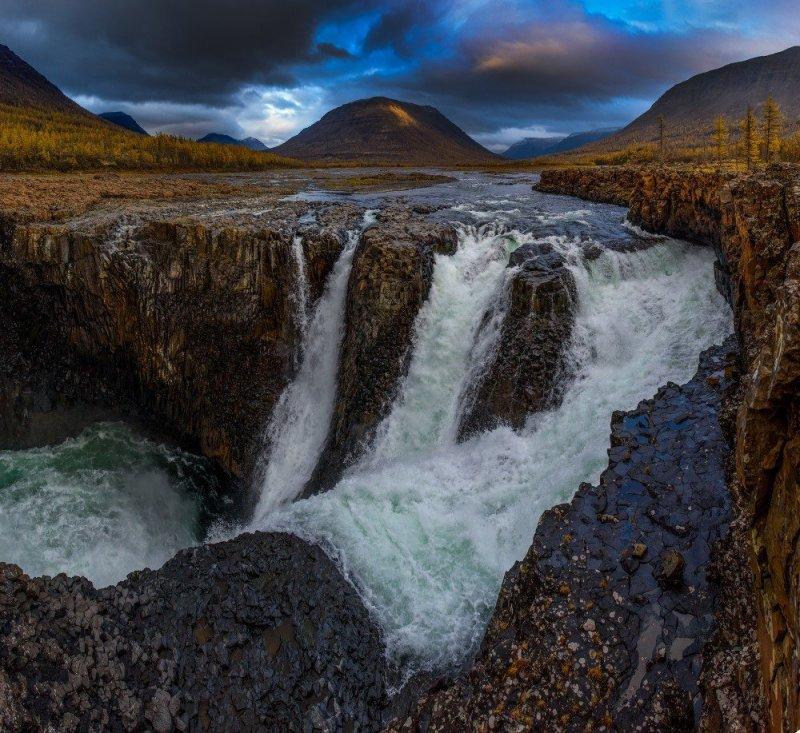 Природные чудеса России: Плато Путорана Плато Путорана, водопады, плато, природа россии, туризм, фотографии