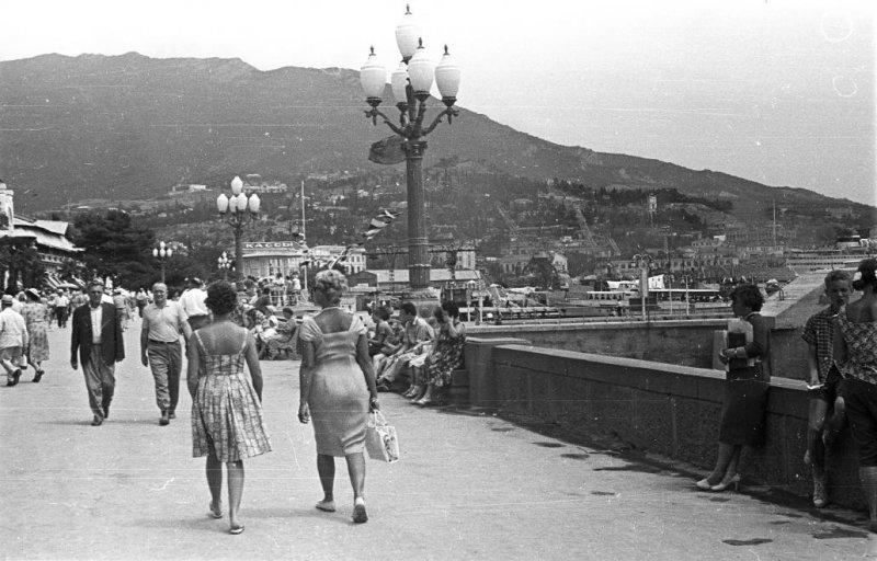 Набережная, 1962 год курорты СССР, море, отдых, ссср, ялта
