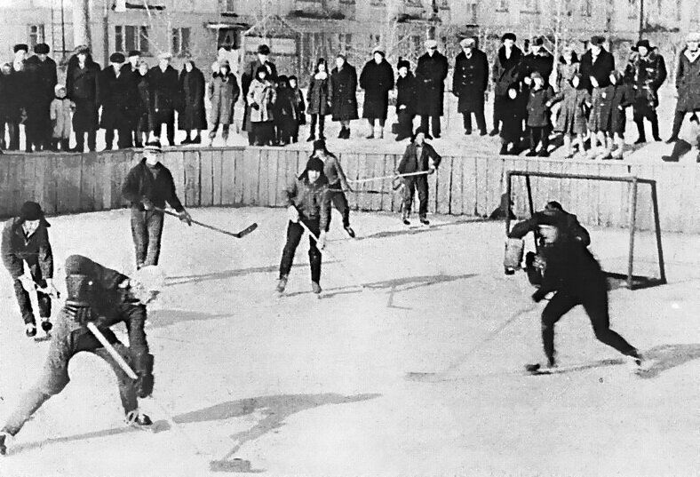 Зимой играли в настоящий хоккей история, ностальгия, ссср, фотографии
