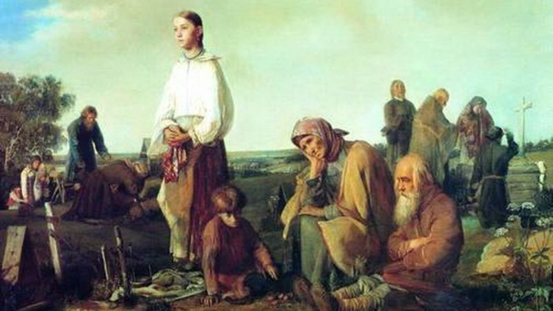 Почему русским вдовам нельзя было горевать? бес, бесы, вдовы, огненный змей, приметы, суеверия